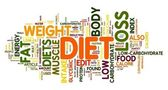 Diet concept in tag cloud — Stock fotografie