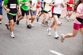 Running in marathon — Stock Photo