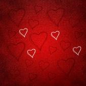 Alla hjärtans bakgrunden av hjärtan — Stockfoto
