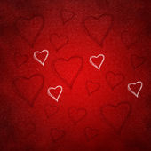 Valentines background of hearts — Stock Photo