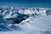 Alps mountains in winter — Stock Photo