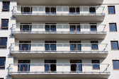 Balconies in modern block — Stock Photo