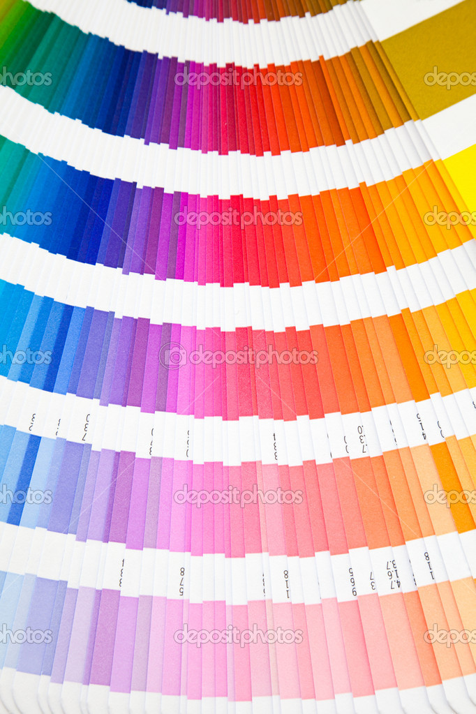 Open pantone color guide sampler — Stock Photo #8876094