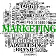 Marketing related words in tag cloud — Foto Stock