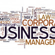 Stock Photo: Business word in tag cloud