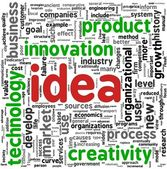 Idea concept words in tag cloud — Stok fotoğraf