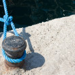 Stock Photo: Knot on rope in dock