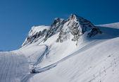 Ski slope in high alps — Stock Photo