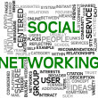 Stock Photo: Social networking in tag cloud