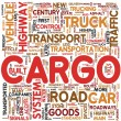 Cargo concept words in tag cloud — 图库照片