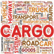 Cargo concept words in tag cloud — Stock fotografie