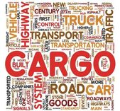 Cargo concept words in tag cloud — Stock Photo