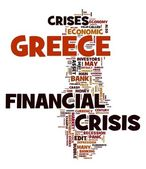 Financial crisis in Greece concept — Stock Photo