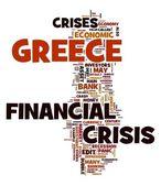 ギリシャの概念で金融危機 — ストック写真