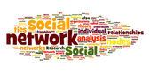 Social networking in tag cloud — Stock Photo