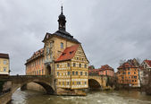 Altes Rathaus (The Old Town Hall) in winter. Bamberg, Bavaria. — Stock Photo