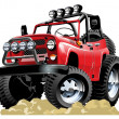 Royalty-Free Stock Vector Image: Vector cartoon jeep one click repaint