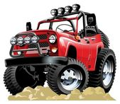 Vector cartoon jeep one click repaint — Wektor stockowy