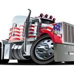 Vector cartoon semi truck — Stock Vector #8562334
