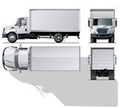 Vector hi-detailed delivery / cargo truck. — Stockvektor