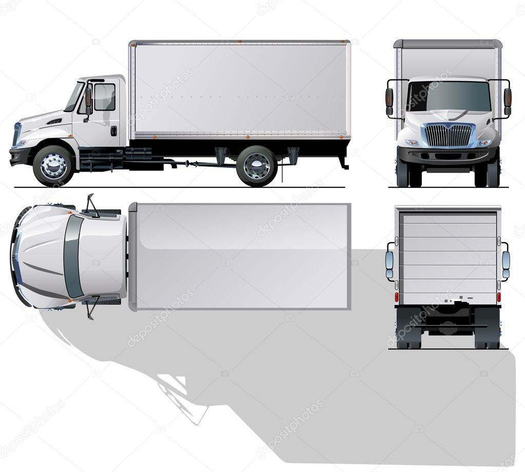 Vector hi-detailed delivery / cargo truck. — Stock Vector ...