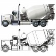 Vector concrete mixer truck — Stock Vector #8894351