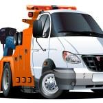 Vector cartoon tow truck — Stock Vector