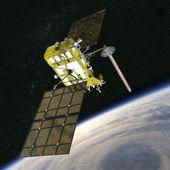 Modern navigation satellite — Stock Photo