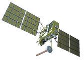 Modern navigation satellite isolated on white — Stock Photo
