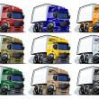 Cartoon trucks set — Stock Photo