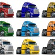 Royalty-Free Stock Photo: Cartoon trucks set