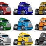 Cartoon trucks set — Stock Photo #9443549