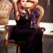 The Black Dress - Stockfoto