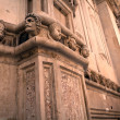 Heads on a cathedral — Stock Photo #9681608