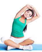 Girl stretching — Stock Photo