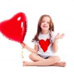 Girl with a balloon — Stock Photo