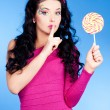 Woman with lollipop — Stock Photo #10187488
