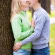 Kissing couple — Stock Photo