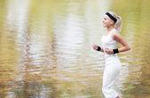 Jogger im park — Stockfoto