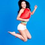 Jumping woman — Stock Photo #8539536