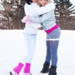 Royalty-Free Stock Photo: Girls ice skating