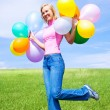 Woman with balloons — Stock Photo #8629360