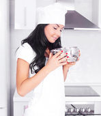 Woman cooking — Stock Photo
