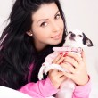 Woman with a dog — Stock Photo #8683305
