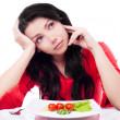 Woman keeping a Diet — Stock Photo