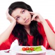 Woman keeping a Diet — Stock Photo #8683333
