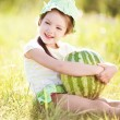 Stock Photo: Girl with watermelon