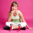 Woman with dumbbells — Stock Photo #8758060