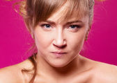 Angry woman — Stockfoto