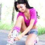 Woman on roller skates — Stock Photo #8816331